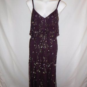 Gorgeous Plum Colored Beaded Gown